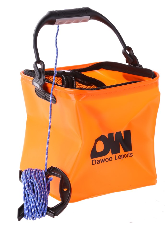 Fishing Bucket 5ltr Zip Mesh Top c/w Rope Line. Buyers Note - Discount Frei