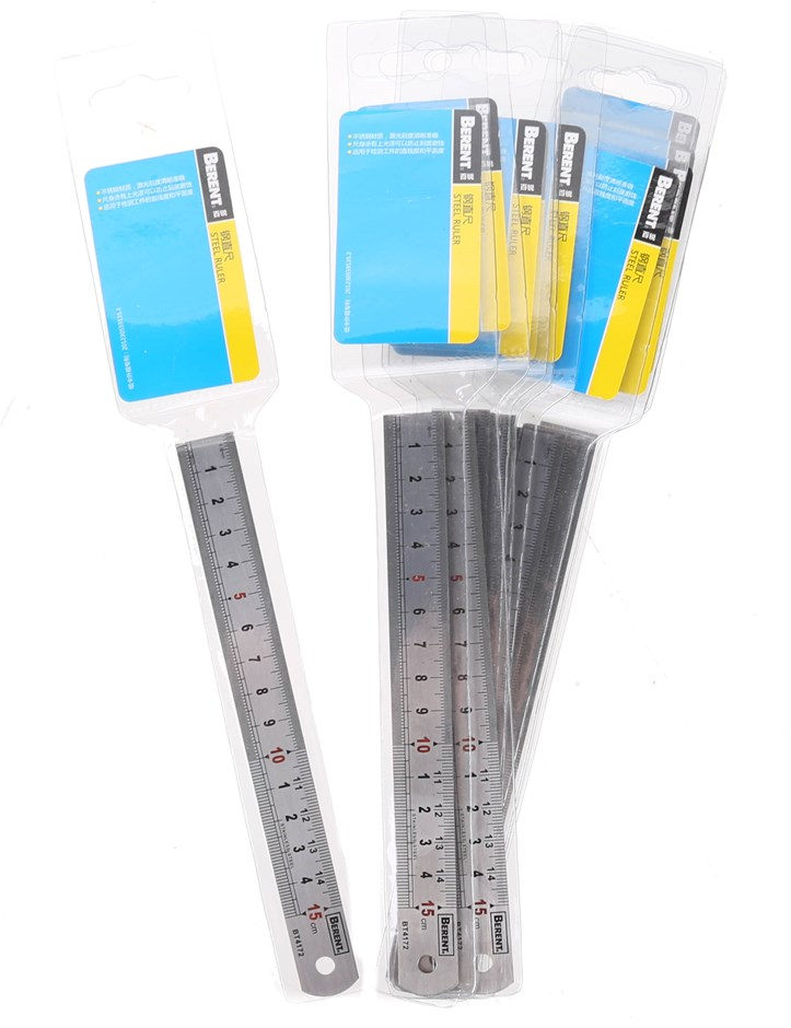 10 x BERENT Stainless Steel Rulers 15cm. Buyers Note - Discount Freight Rat