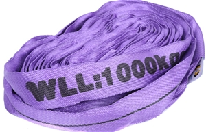 2 x Round Lifting Sling, WLL 1,000kg x 4
