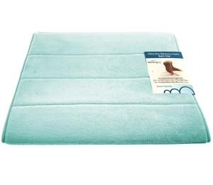 Beddingco Memory Foam Bath Mat Light Blue Auction