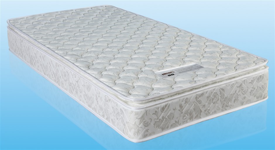 PALERMO Single Luxury Latex Pillow Top Topper Spring Mattress
