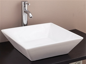 Bathroom Ceramic Rectangular Above Count