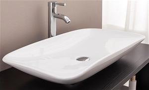 Bathroom Ceramic Rectangular Above Count