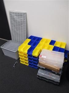 Qty Of Parts Containers Storage Boxes Auction 0092 7010830 Graysonline Australia