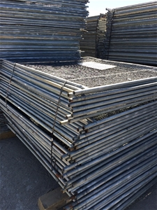 Temporary Fencing Panels with Base Feet