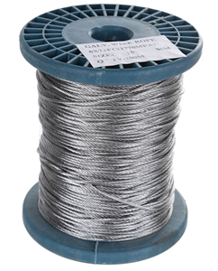 Reel 100M x Galv. Wire Rope, 1.6mm Dia.