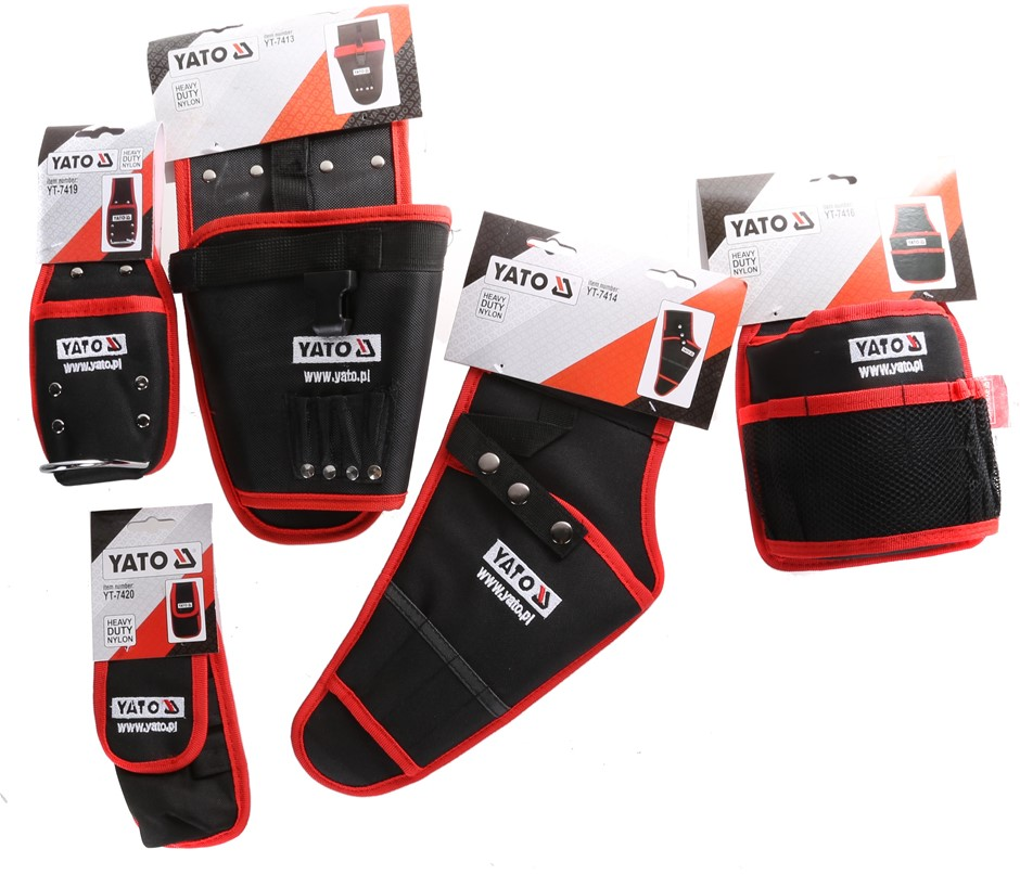 5 x Assorted YATO Tool Pouches. Buyers Note - Discount Freight Rates Apply