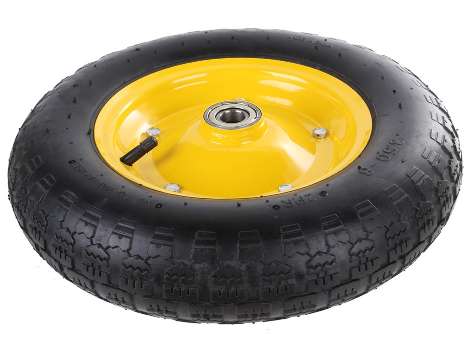 Pneumatic Rubber Tyre Wheel 14ins with Ball Bearings. Buyers Note - Discoun