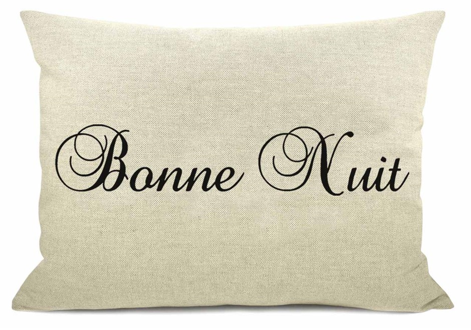 WORD CUSHION - Bonne Natural