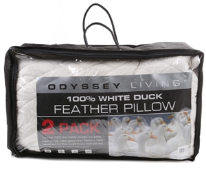 2 x ODYSSEY 100% White Duck Feather Pill