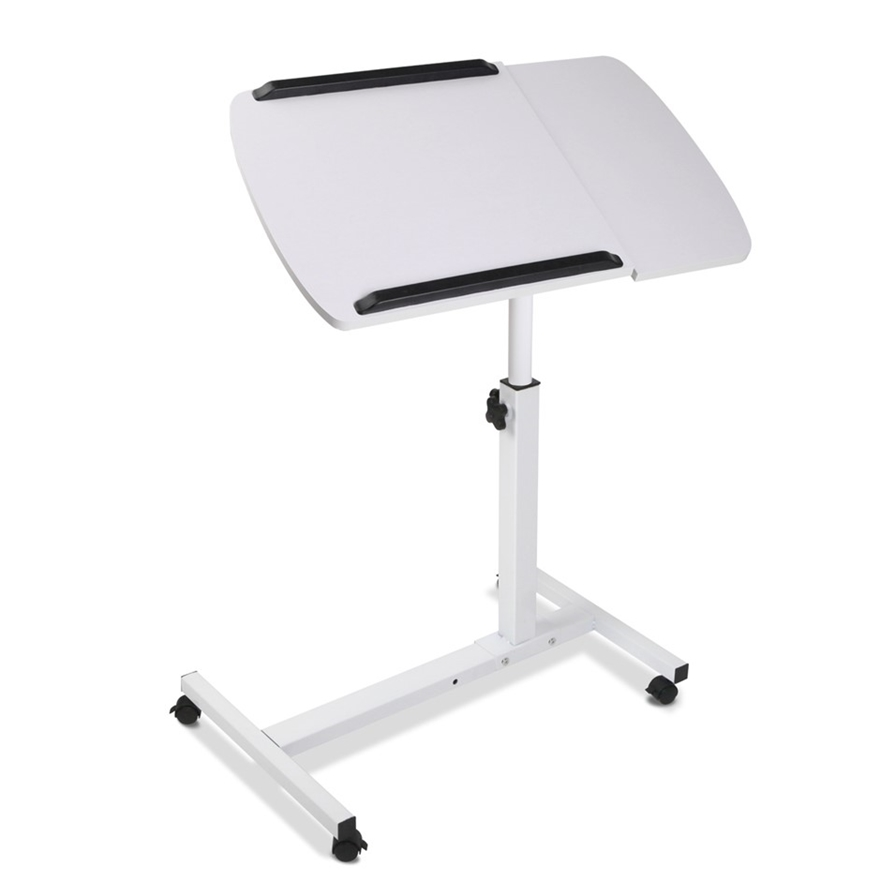 Rotating Mobile Laptop Adjule Desk White