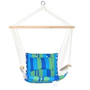 Gardeon Hammock Swing Chair - Blue & Gre