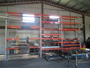 Qty 3 bays pallet racking auction 0054 7011998 for 3 bays