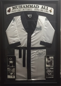 Muhammad Ali Boxing Robe Framed Signed By Ali Auction (0001-7012289 ... ac43cd3cd