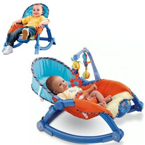 Buy fisher price newborn to toddler portable rocker for Chaise vibrante