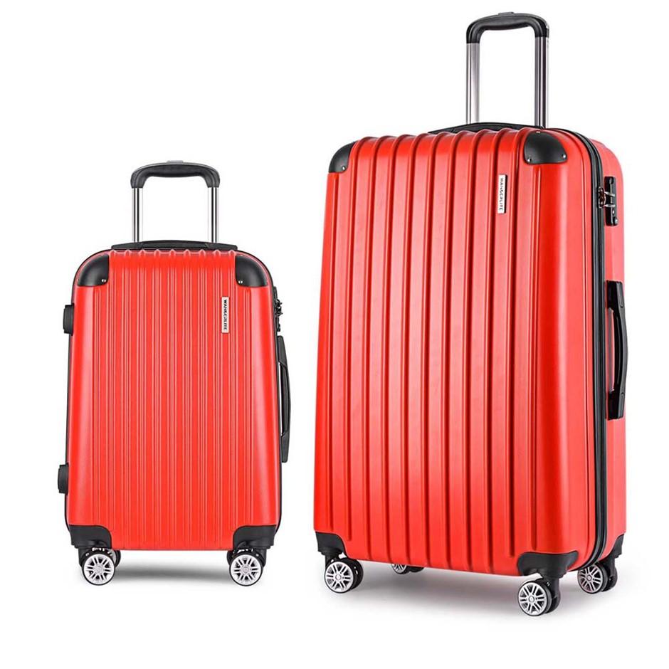Wanderlite 2 Piece Lightweight Hard Suit Case - Red