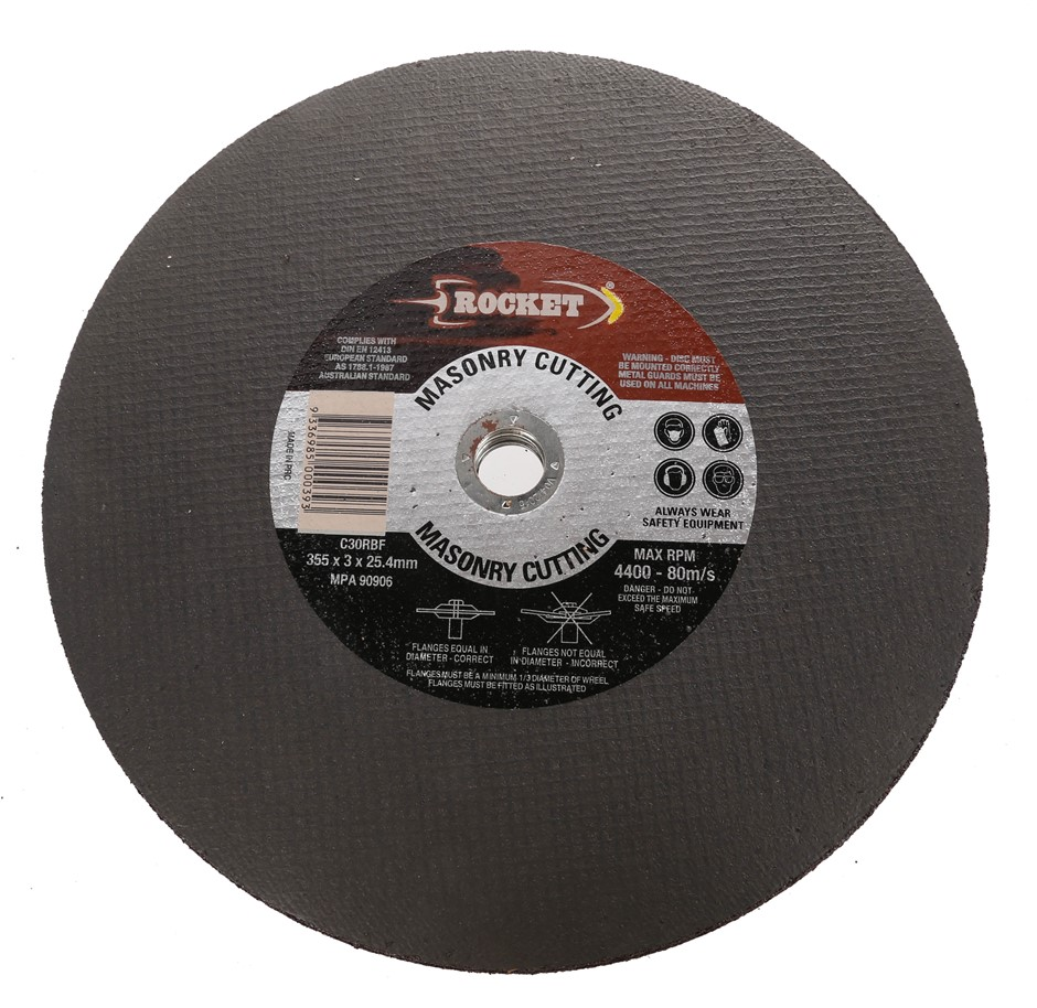 6 x Masonry Cutting Discs 355 x 3 x 25.4mm. Buyers Note - Discount Freight