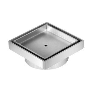 Square Stainless Steel Shower Grate Drai