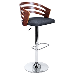 Artiss Wooden Bar Stool with Fabric Seat