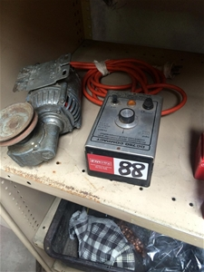 Electric Motor And Gearbox With Variable Speed Drive 240v