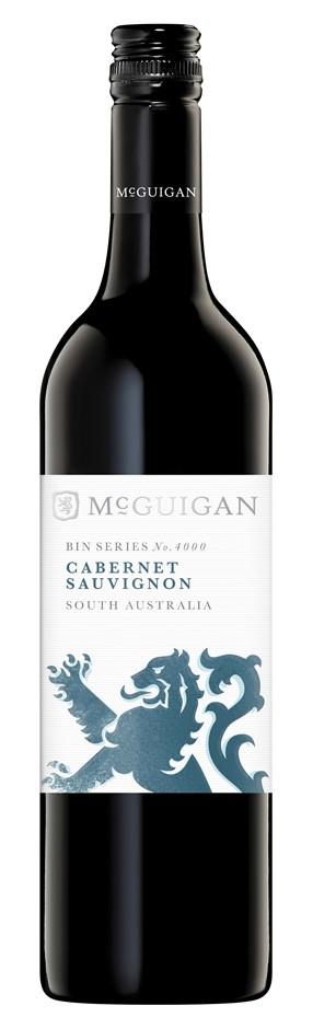 McGuigan `Bin 4000` Cabernet Sauvignon 2015 (6 x 750mL), Limestone, SA.