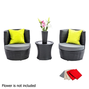 Gardeon 4 Piece PE Wicker Outdoor Set -