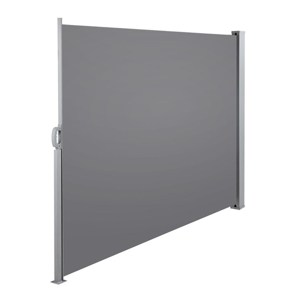 Instahut Retractable Side Awning Shade 1.8 x 3m - Grey