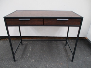 Dark stained timber finish office auction 0007 7015355 graysonline australia Timber home office furniture brisbane