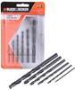 5 x BLACK & DECKER 6pc HSS Drill Bit Sets, Sizes: 2 To 8mm. (264504-174)