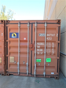 40 ft  Shipping Container, barn doors, security locking point, timber floor
