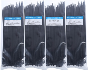 4 Packs Of Cable Ties Each 100pcs, Size: