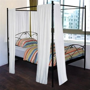 Queen Four Poster Metal Bed Frame Auction 0009 2047231