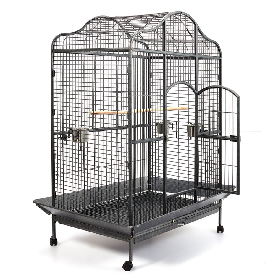 i.Pet Extra Large Bird Cage with Perch - Black