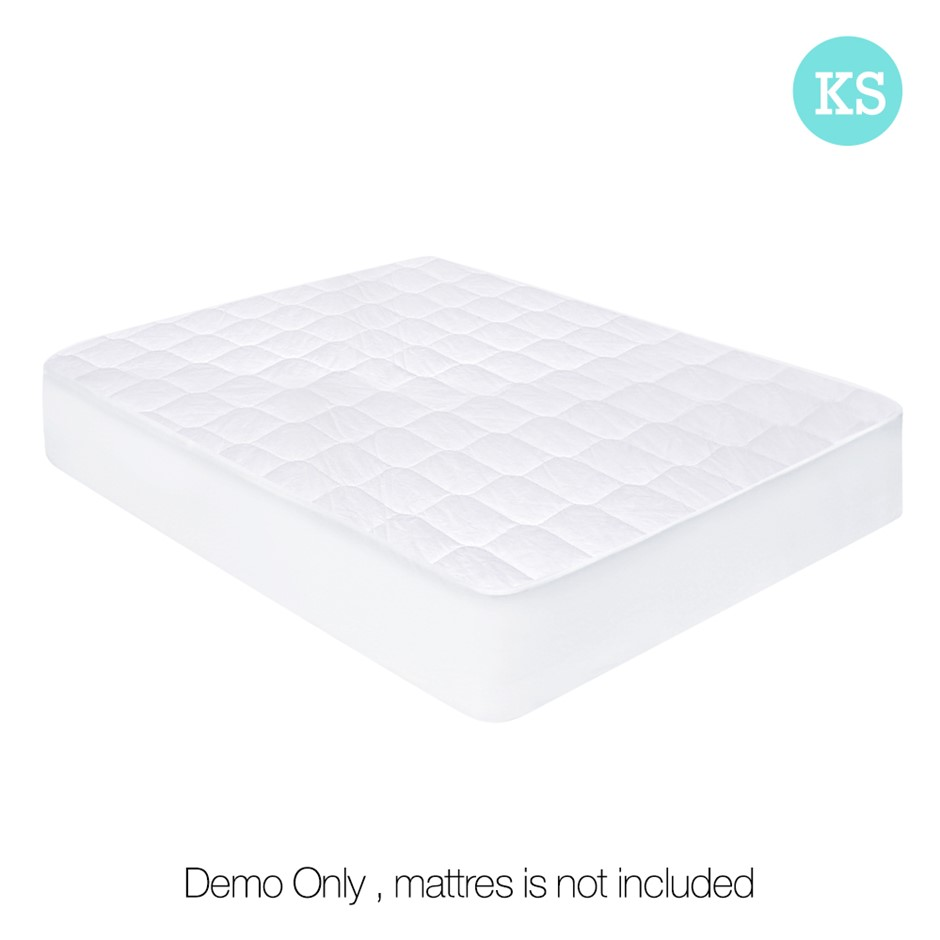 Cotton Cover Mattress Protector - King Single
