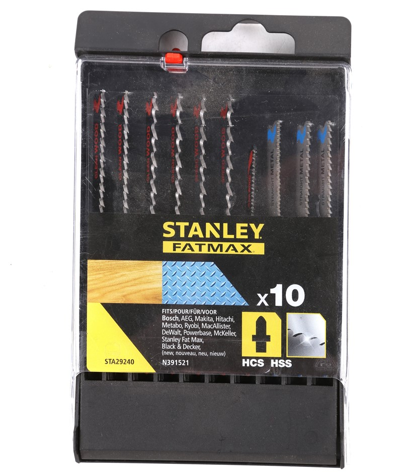 STANLEY FatMax 10pcs Jig Saw Blades. N.B See Image for Sizes. Buyers Note -