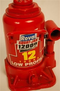 ROVAL12T Low Profile Hydraulic Bottle Jack With Handle  (174950-72)