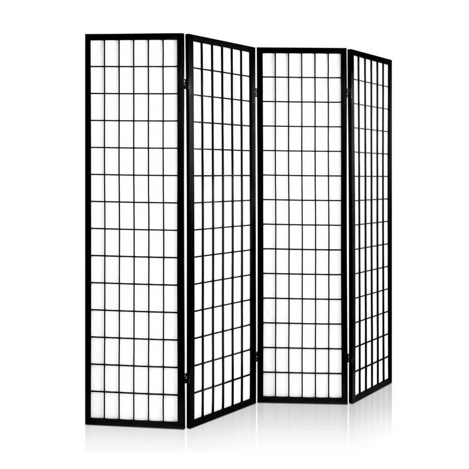 4 Panel   Black Room Divider. dandenong home furniture   Graysonline