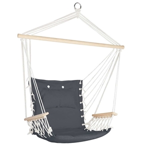 Buy Gardeon Hammock Hanging Swing Chair Grey Graysonline Australia