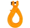 Clevis Self Locking Safety Hook, Suits 7-8mm Chain WLL 2000kg, Grade 80. Bu