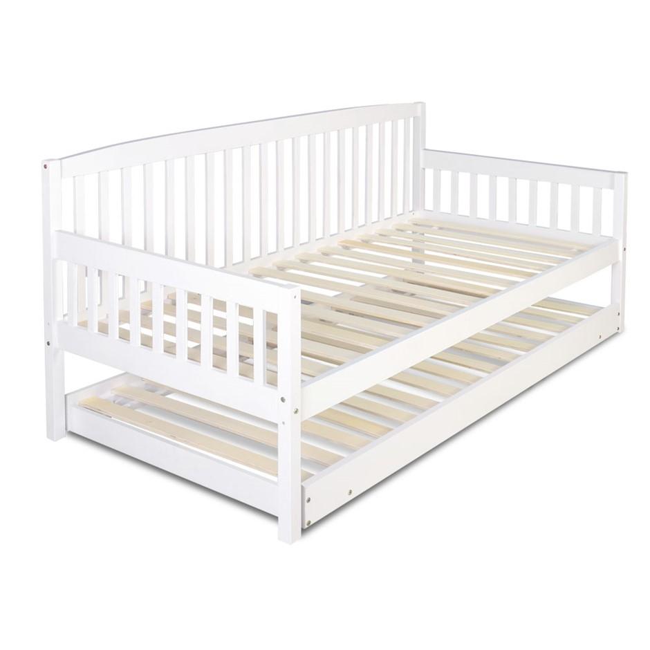 King single bed frame sydney - Wooden Bed Frame With Trundle Single