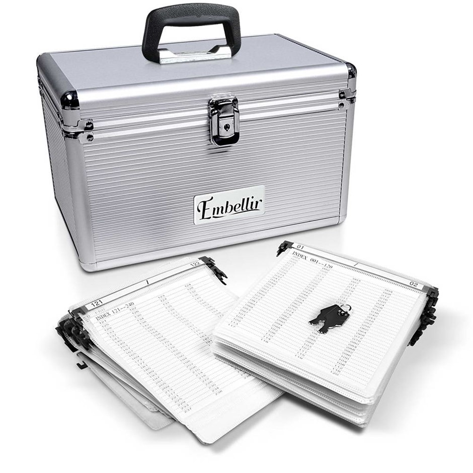 Embellir 240 Disc Aluminium Storage Box - Silver