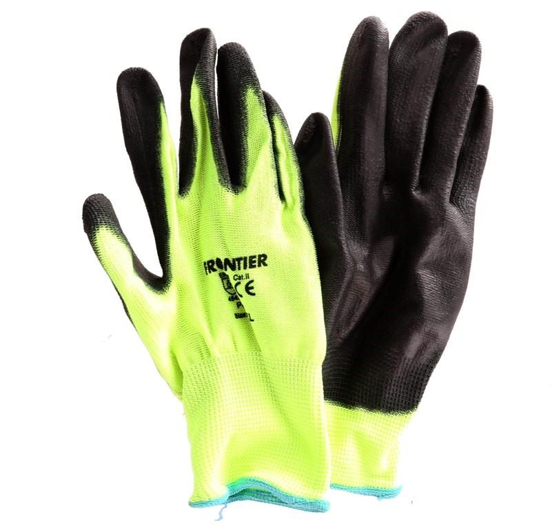 12 x PU Coated Knit Gloves Size 2XL Cut-5 Level Hi-Vis. Buyers Note - Disco