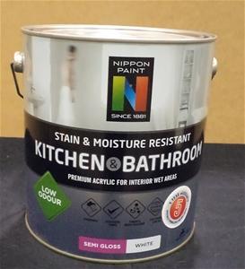4 Litres Of Nippon Paint Kitchen Bathr