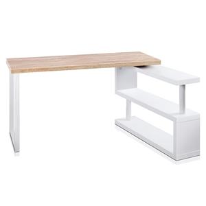 Artiss Rotary Corner Desk with Bookshelf