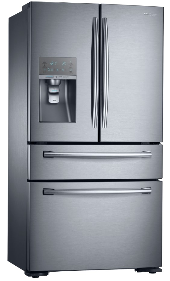 Samsung 680L 4 Door Fridge (Layered Steel)(SRF679SWLS)