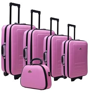 Buy 5pc Suitcase Trolley Travel Bag Luggage Set PINK | GraysOnline ...