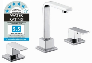 3pc Basin Tap Faucet Set - Bathroom Laun