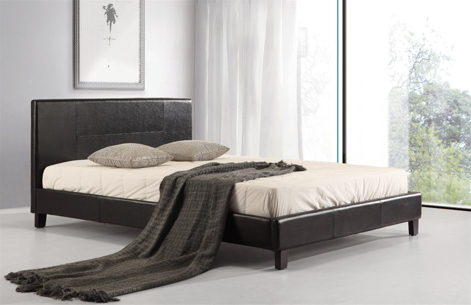 high bed frames queen black | Graysonline