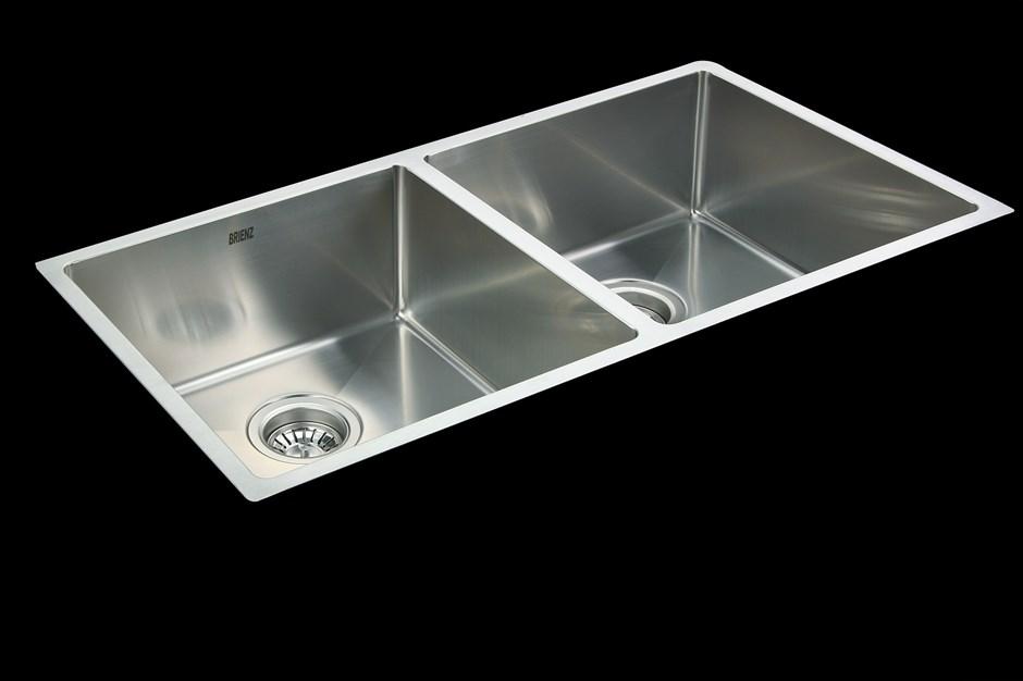 865x440mm Stainless Steel Undermount / Topmount Kitchen Sink with Waste