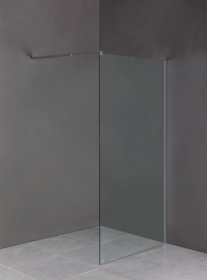1200 x 2100mm Frameless 10mm Safety Glass Shower Screen
